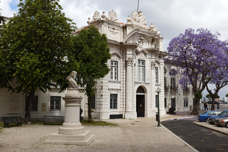 Militärt museum i Lissabon, Portugal royaltyfri foto