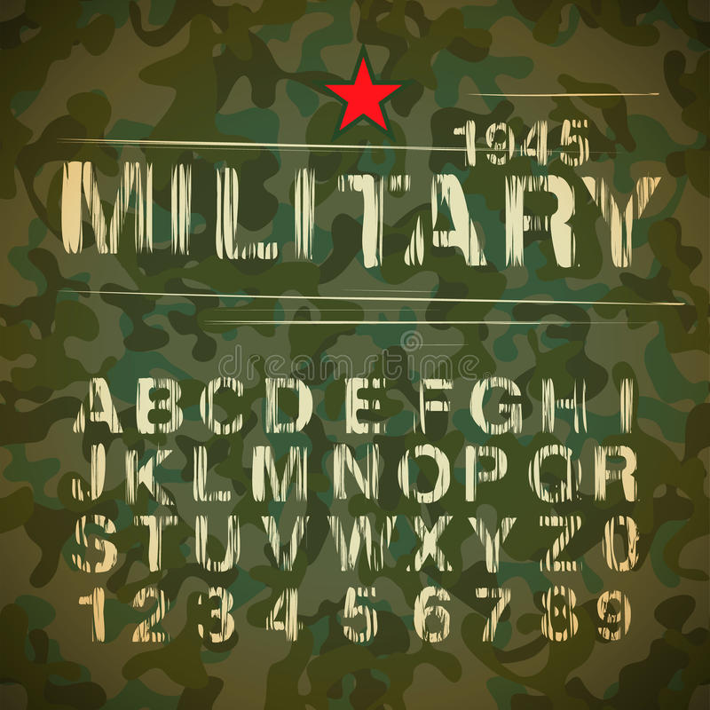 Militärt tappningalfabet vektor illustrationer