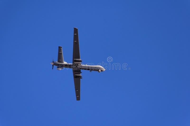 Militäruntersuchungflugzeugdemonstration lizenzfreie stockbilder