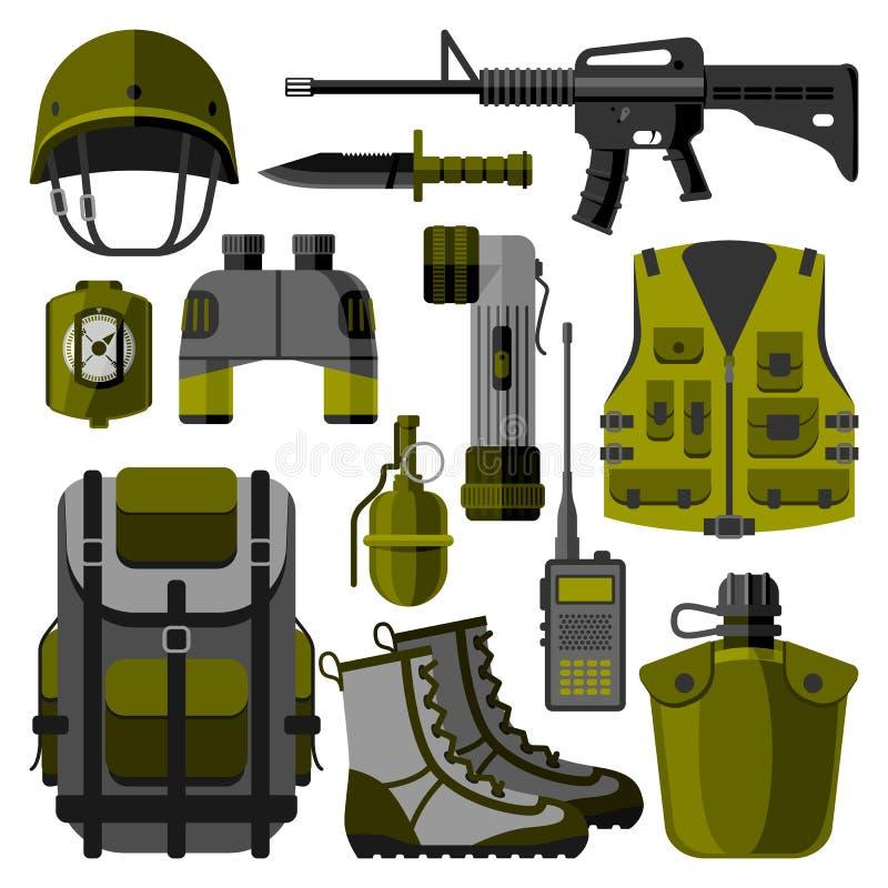 Militärwaffe schießt Symbolvektorillustration lizenzfreie abbildung