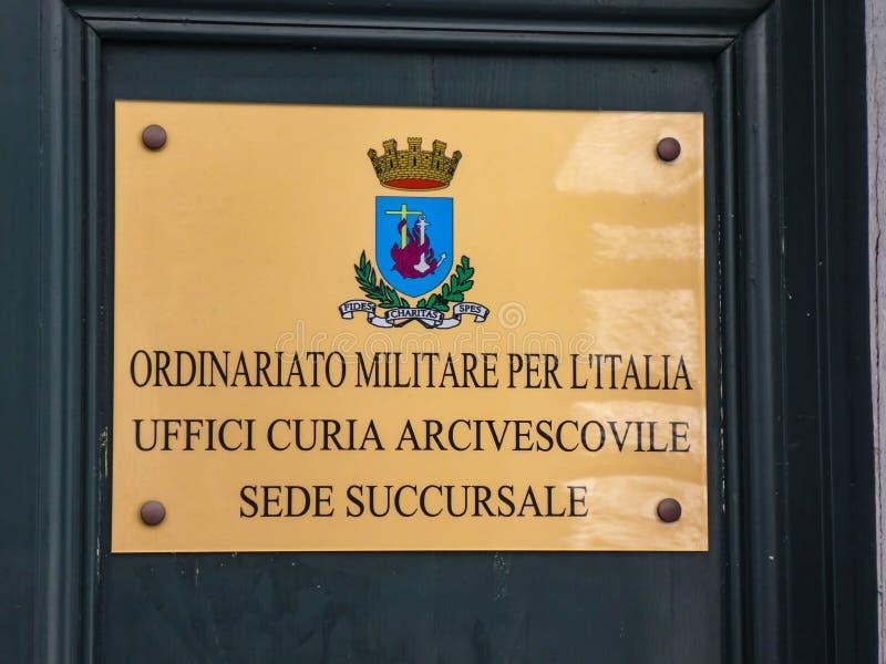 Milit?r Ordinariate av Italien fotografering för bildbyråer