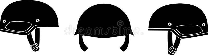 Milit?r symbol p? vit bakgrund stock illustrationer