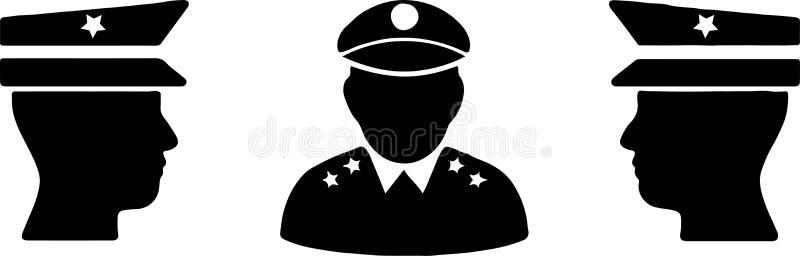 Milit?r symbol p? vit bakgrund vektor illustrationer