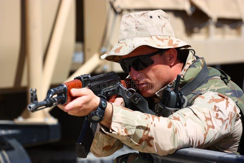 Militair stock afbeelding