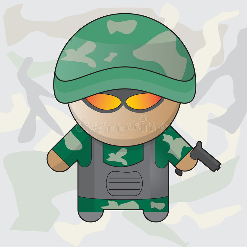 militair royalty-vrije illustratie