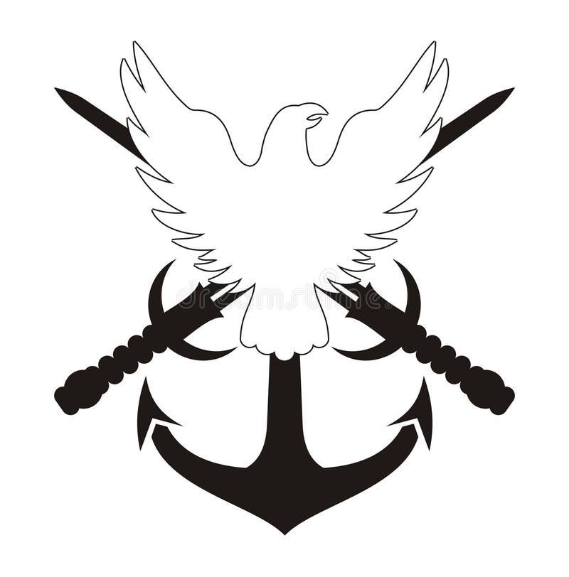 Militair Embleem stock illustratie