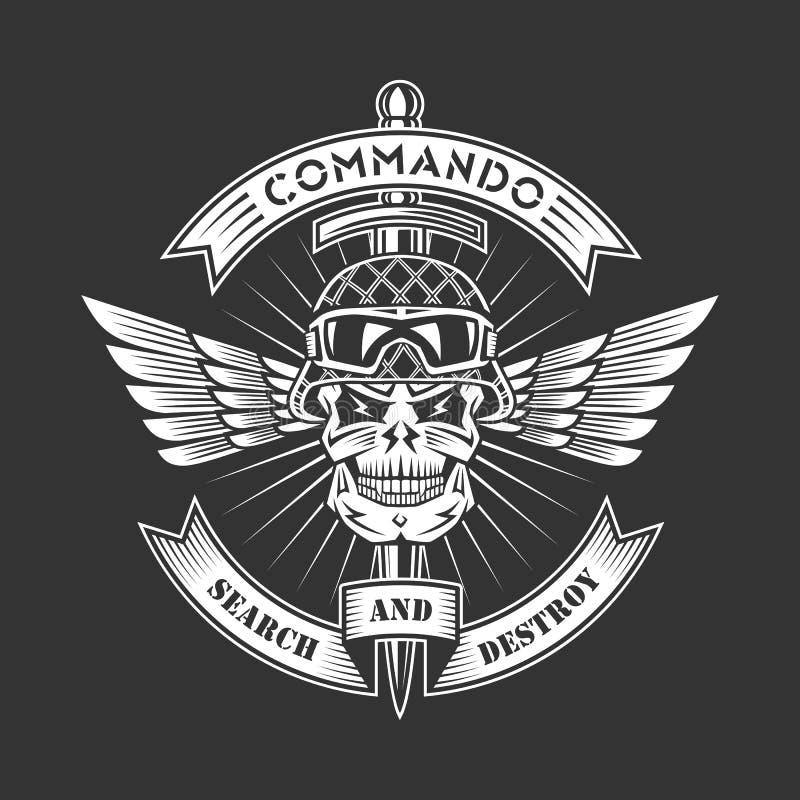 Militair embleem vector illustratie