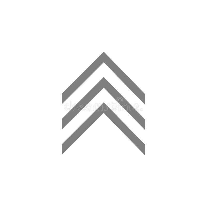 Militair embleem weelderig pictogram royalty-vrije illustratie
