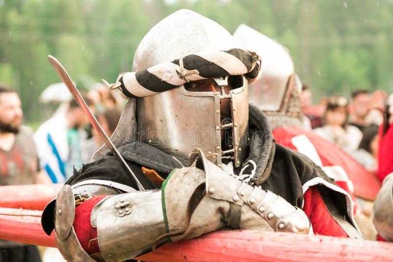 Militair en historisch festival wederopbouw Ridder royalty-vrije stock afbeelding