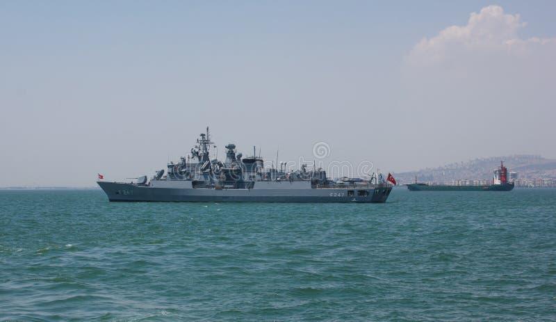 Militair fregat royalty-vrije stock foto
