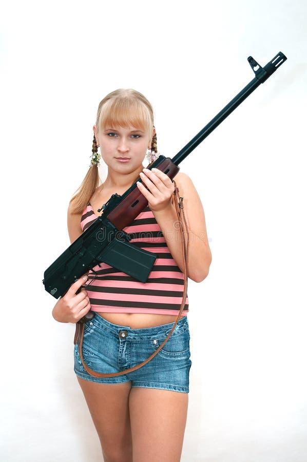 Militair meisje stock afbeelding