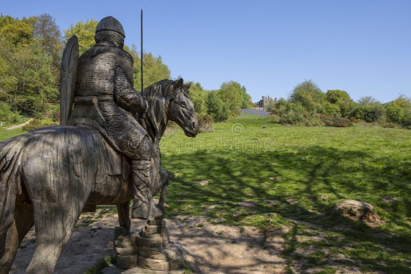 Militair op Horseback Beeldhouwwerk bij Slagabdij royalty-vrije stock foto's