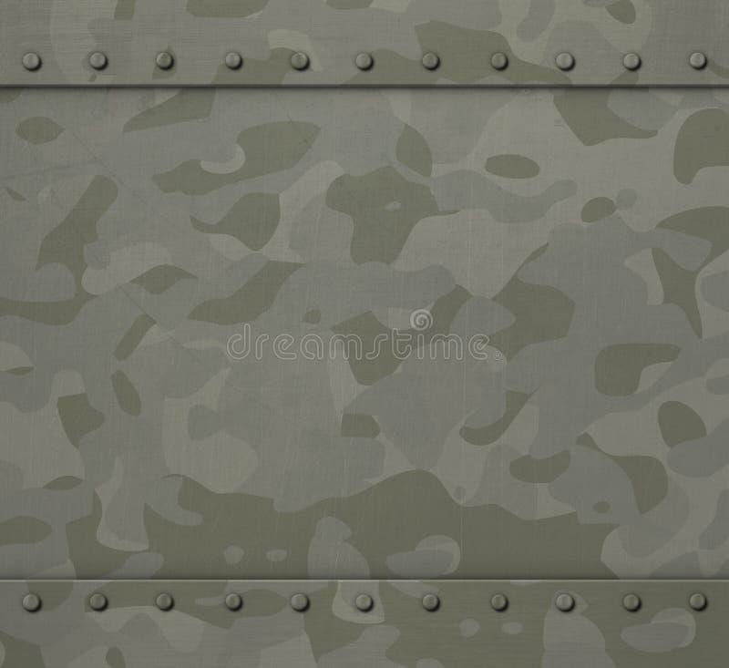 Militair pantser met achtergrond van de camouflage 3d illustratie stock illustratie
