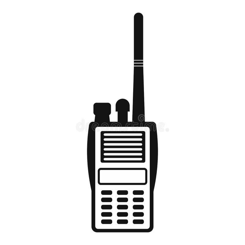 Militair radio eenvoudig pictogram vector illustratie