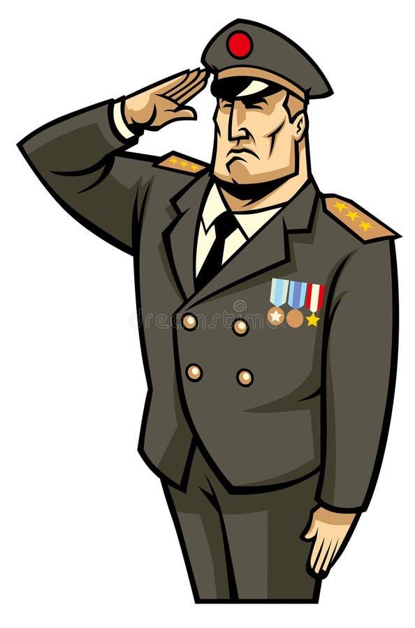 Militair Salute vector illustratie