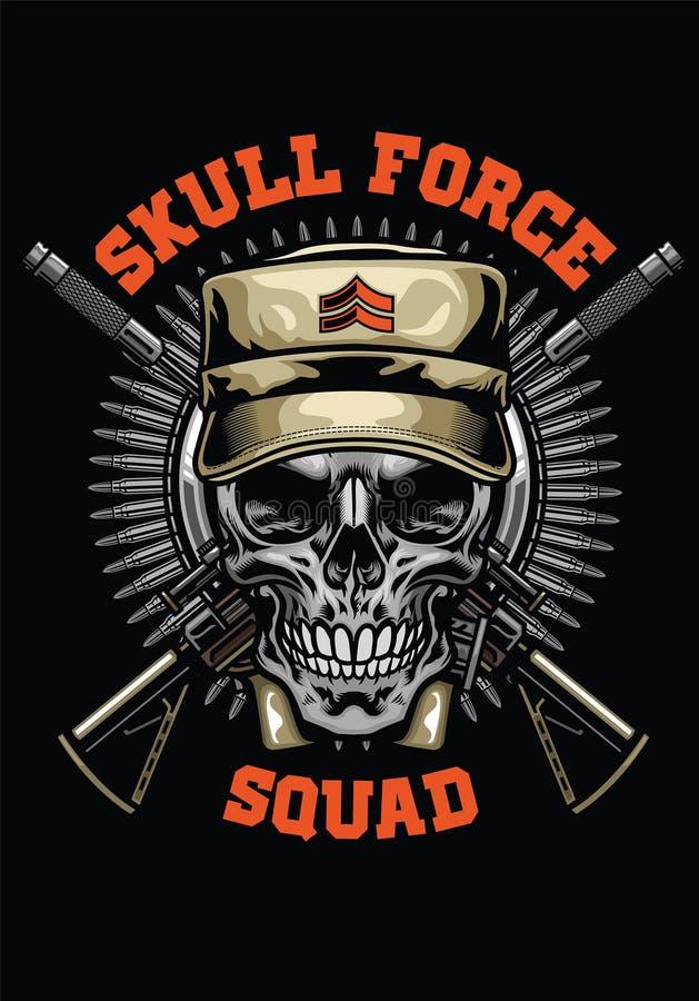 Militair schedelontwerp vector illustratie
