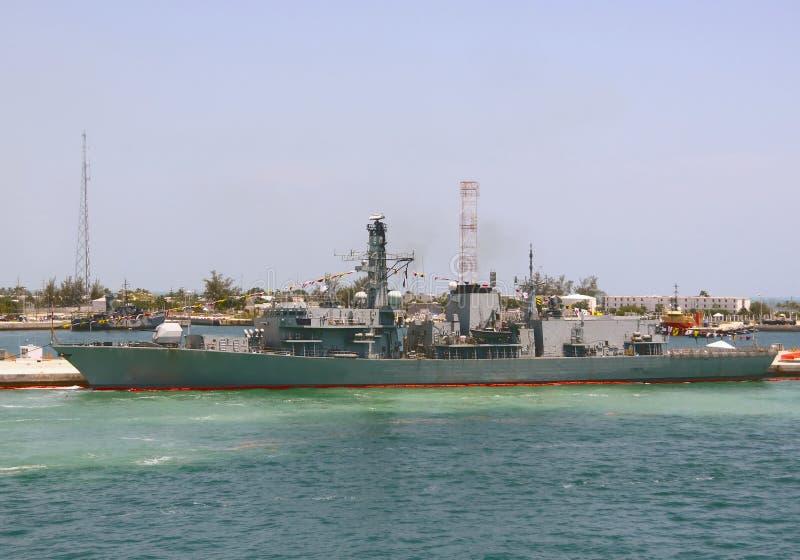 Militair schip royalty-vrije stock fotografie