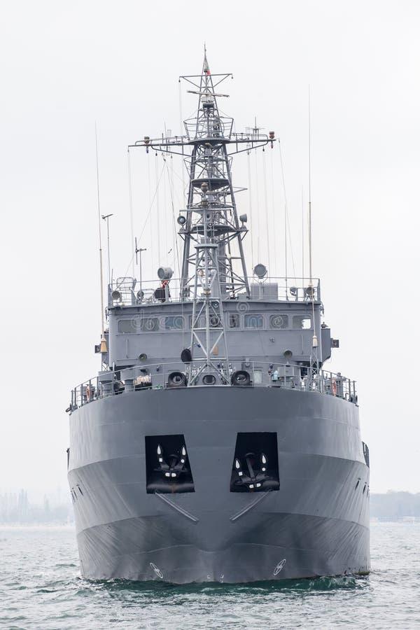 Militair schip royalty-vrije stock afbeelding