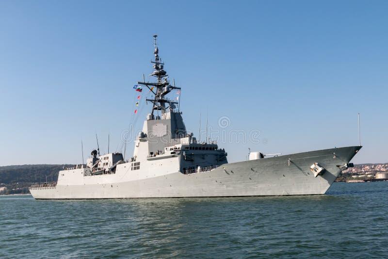 Militair schip stock afbeelding