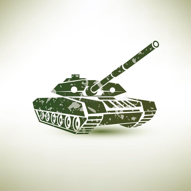 Militair tanksymbool stock illustratie