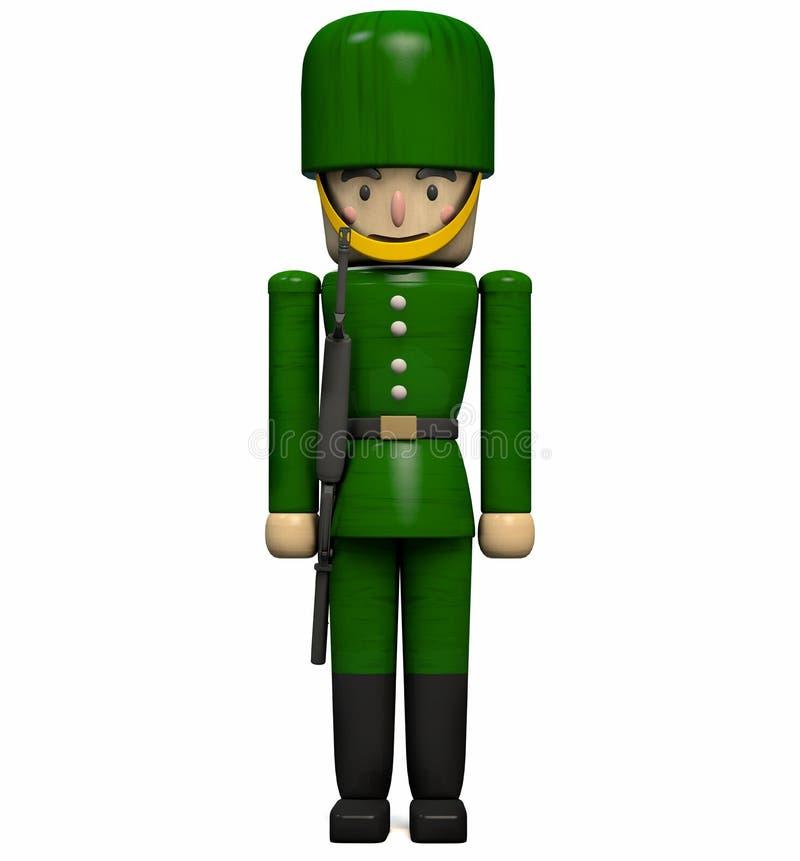 Militair Toy met een Kanon vector illustratie