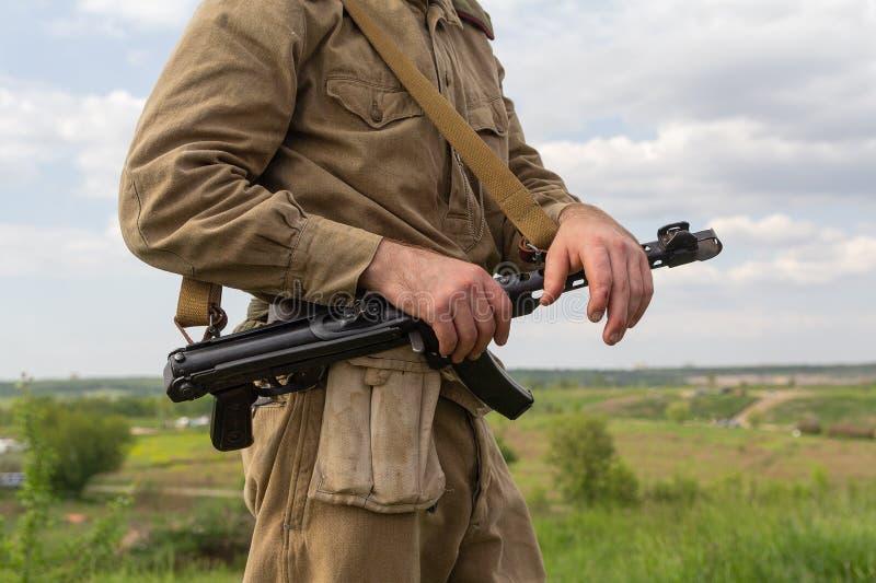 Militair van het Rode Leger van de Tweede Wereldoorlog royalty-vrije stock foto's