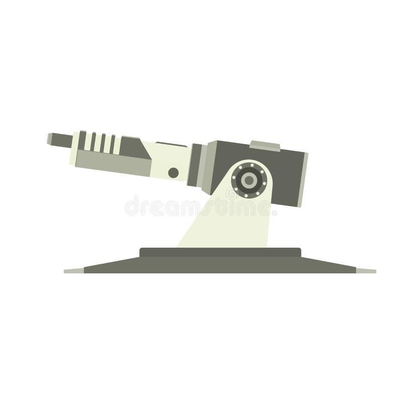 Militair vector van het het legervoertuig van de kanontank gepantserd de illustratietorentje stock illustratie