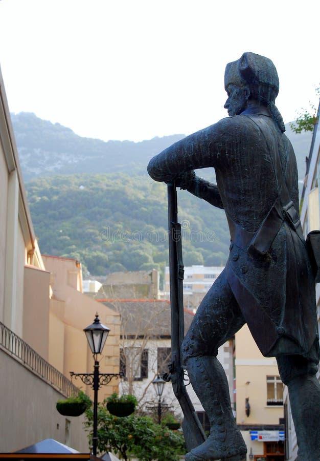 Militair, Victoriaanse era, Gibraltar stock afbeeldingen