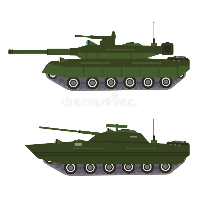 Militair voertuigmateriaal De zware reserves van de batletank en speciaal vervoer royalty-vrije stock afbeeldingen