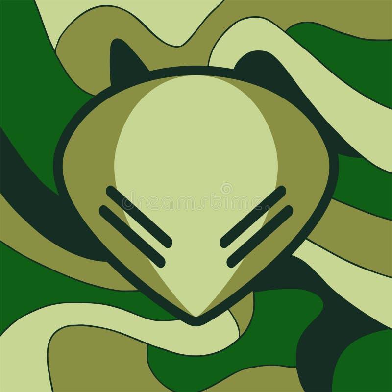 Militair vreemd symbool stock illustratie