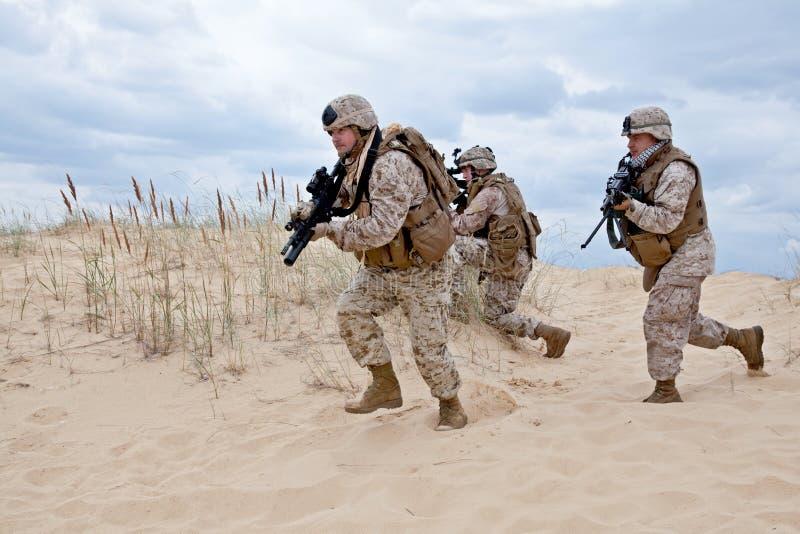 Militaire actie stock foto's