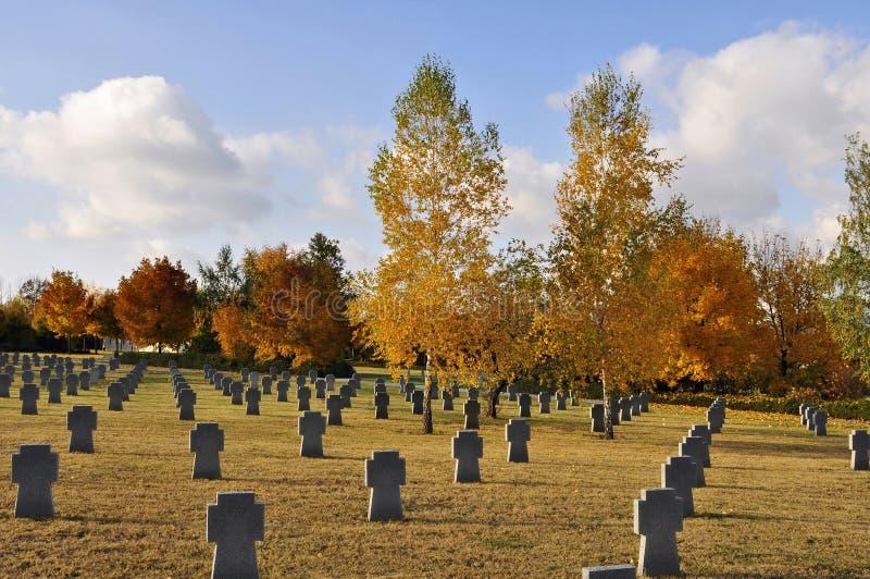 Militaire begraafplaats stock illustratie