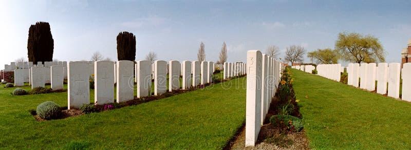 Militaire begraafplaats van de eerste wereldoorlog stock afbeeldingen