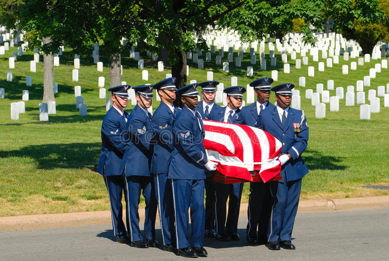 Militaire begrafenis stock foto's