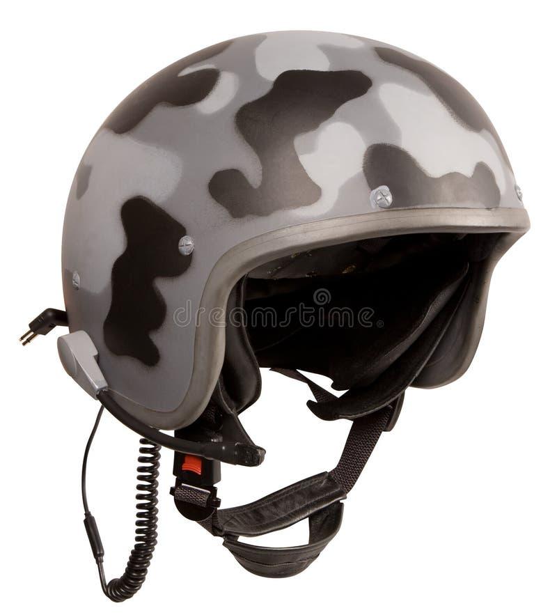 Militaire bevlekte helm royalty-vrije stock fotografie
