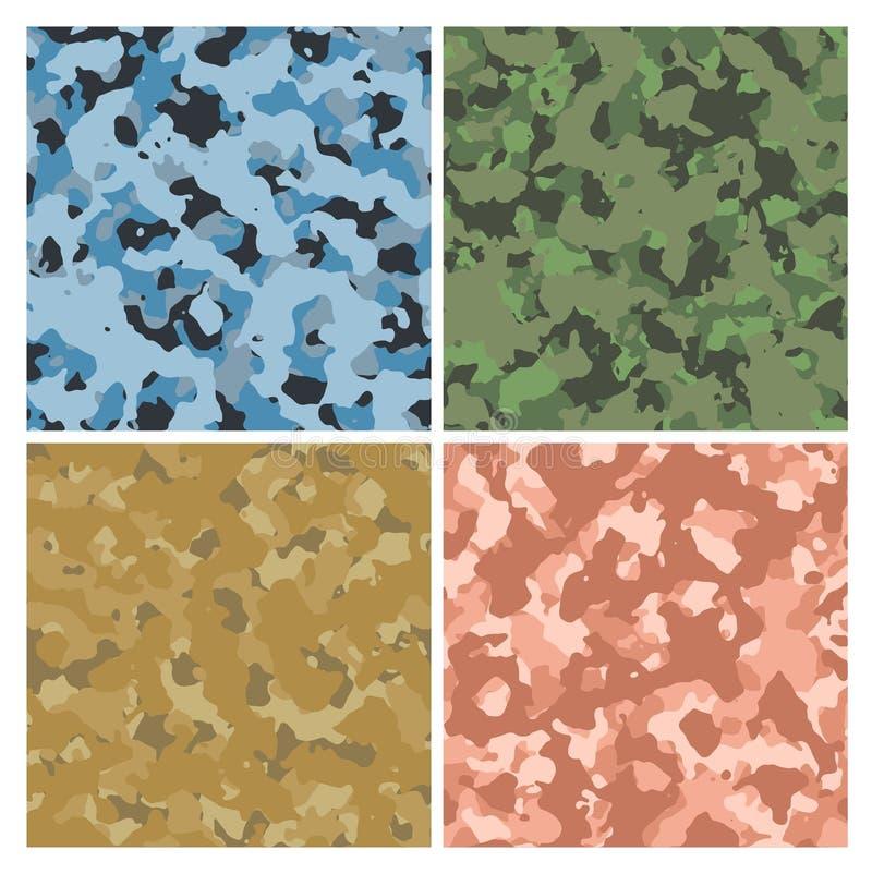 Militaire camouflage royalty-vrije illustratie