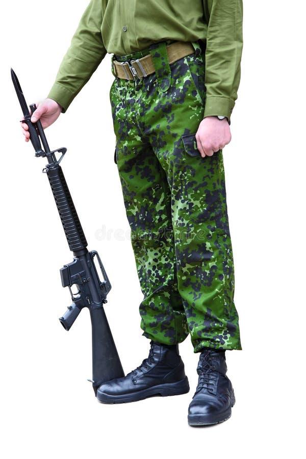 Militaire dans l'uniforme images stock