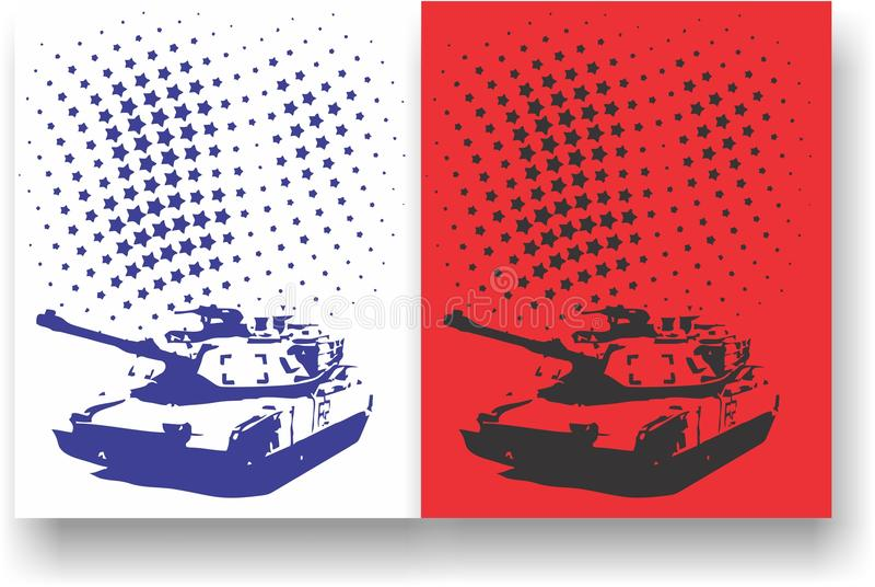 Militaire defensieachtergrond stock afbeelding