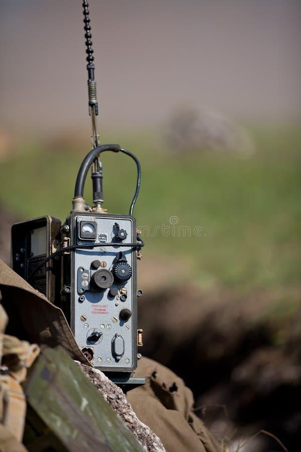 Militaire draagbare radio royalty-vrije stock foto