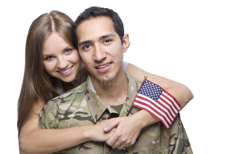 Militaire Echtgenoot en Vrouw royalty-vrije stock afbeeldingen
