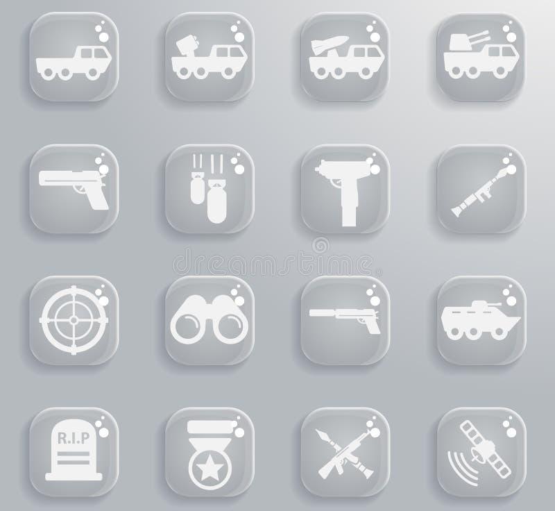 Militaire eenvoudig pictogrammen stock fotografie
