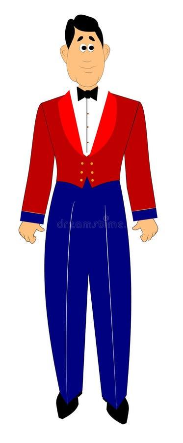 Militaire en code vestimentaire formel illustration libre de droits