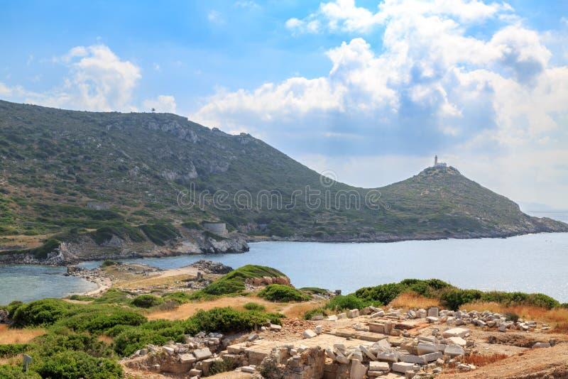 Militaire havenkant van oude Griekse stadsknidos stock fotografie