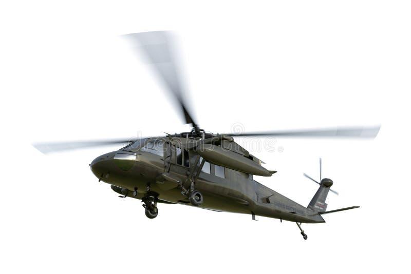 Militaire helikopter uh-60 Zwarte Haviks realistische 3d geeft terug royalty-vrije stock fotografie