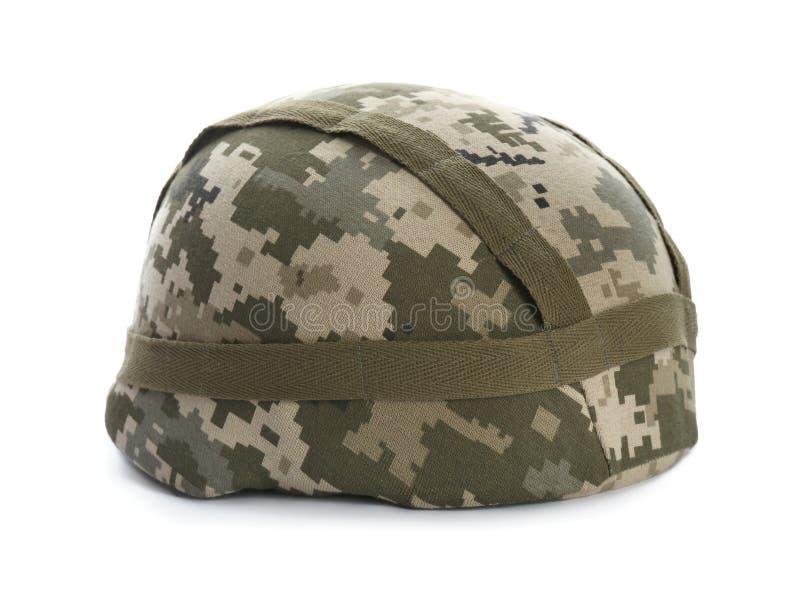 Militaire helm op achtergrond stock afbeeldingen