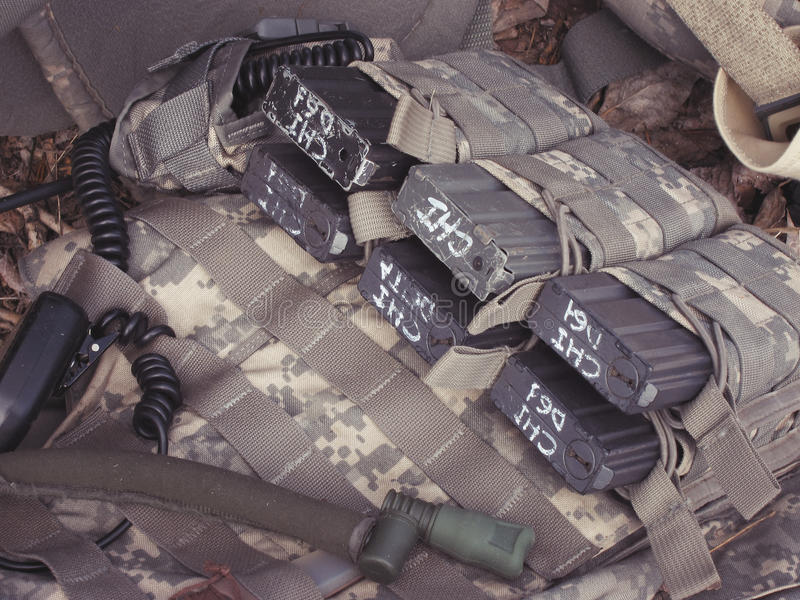 Militaire het leegmaken patronen stock foto's