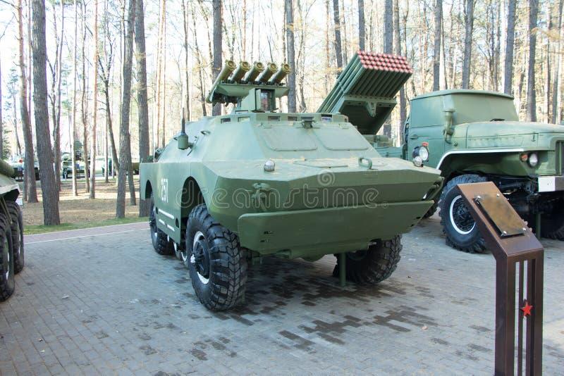Militaire infanterie die vehicl vechten stock afbeelding