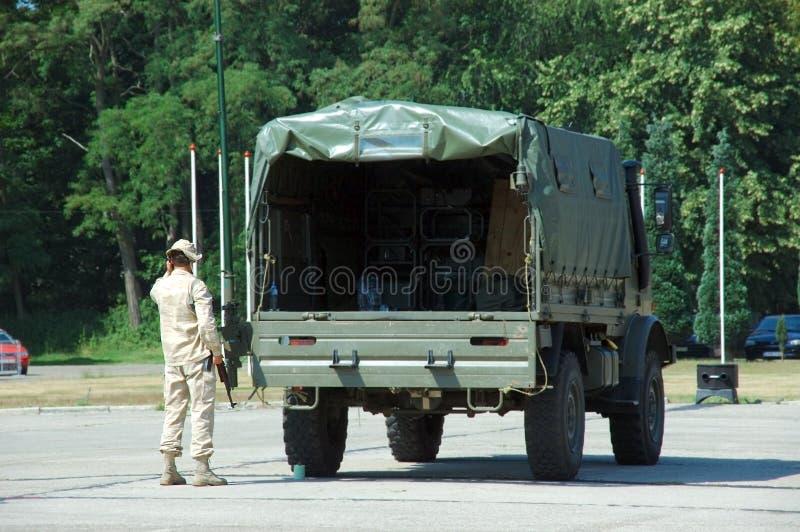 Militaire interventie stock fotografie