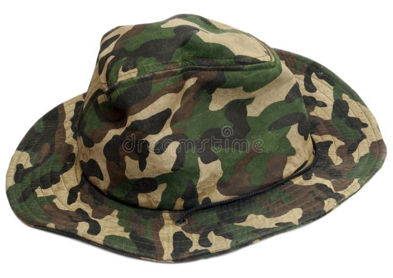 Militaire kaki hoed royalty-vrije stock afbeeldingen
