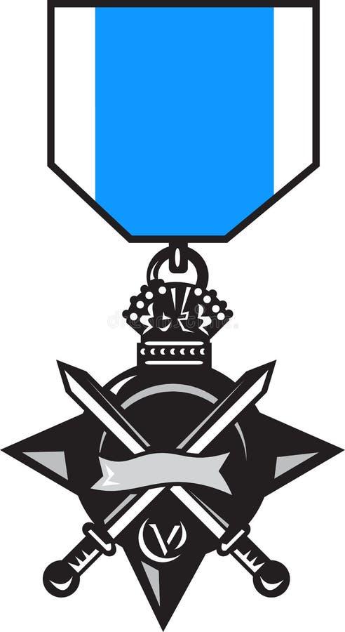 Militaire medaille van moed royalty-vrije illustratie